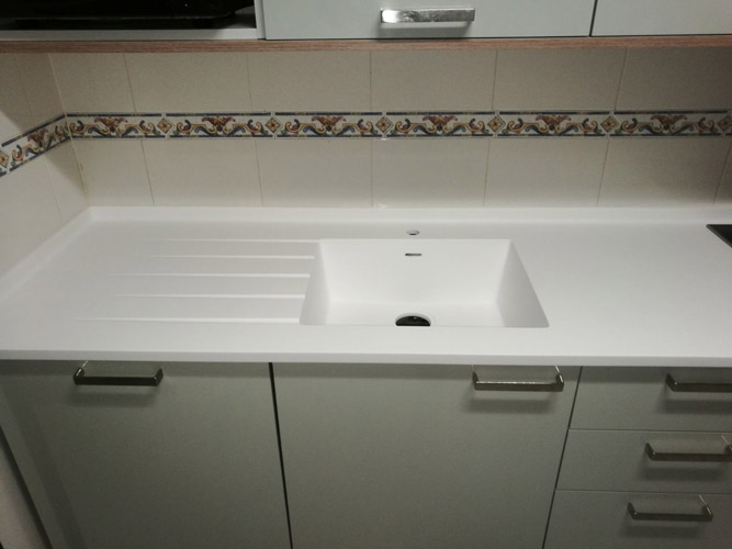 JIJ Solid Surface cocina moderna con luces